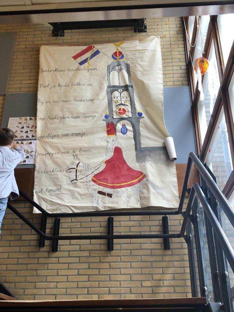 Detalj dekoracije iz Sofijine škole povodom proslave Sinterklasa